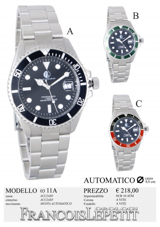 colori e suggestivi colori armoniosi sconto più votato Francois Lepetit Watches - Orologi AUTOMATICI - 03-11A