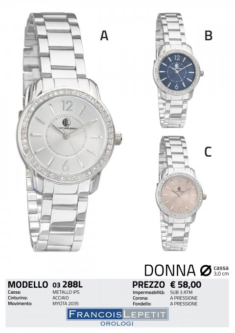 100% di alta qualità sconto più votato nuova alta qualità Francois Lepetit Watches - Orologi ACCIAIO DONNA - ACCIAIO DONNA